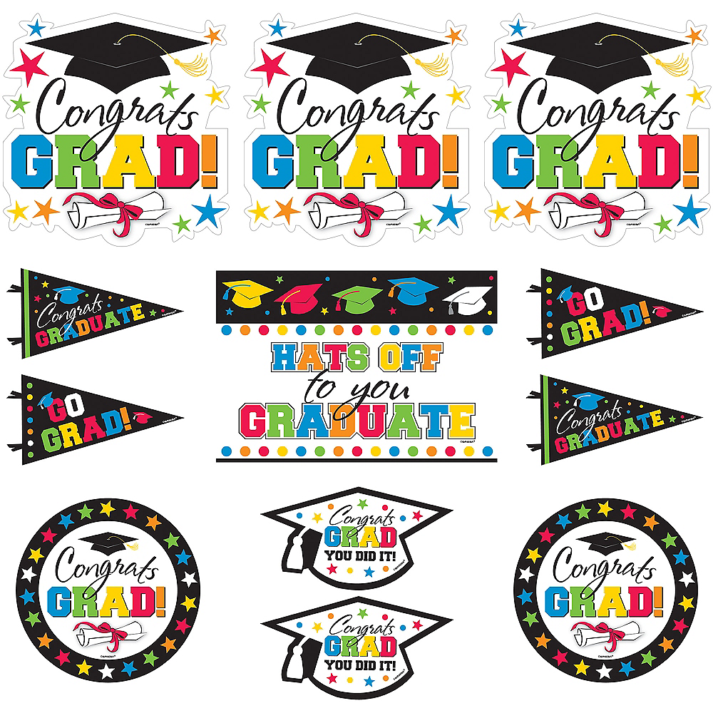 Hats Off Graduation Cutouts 12ct Image #1