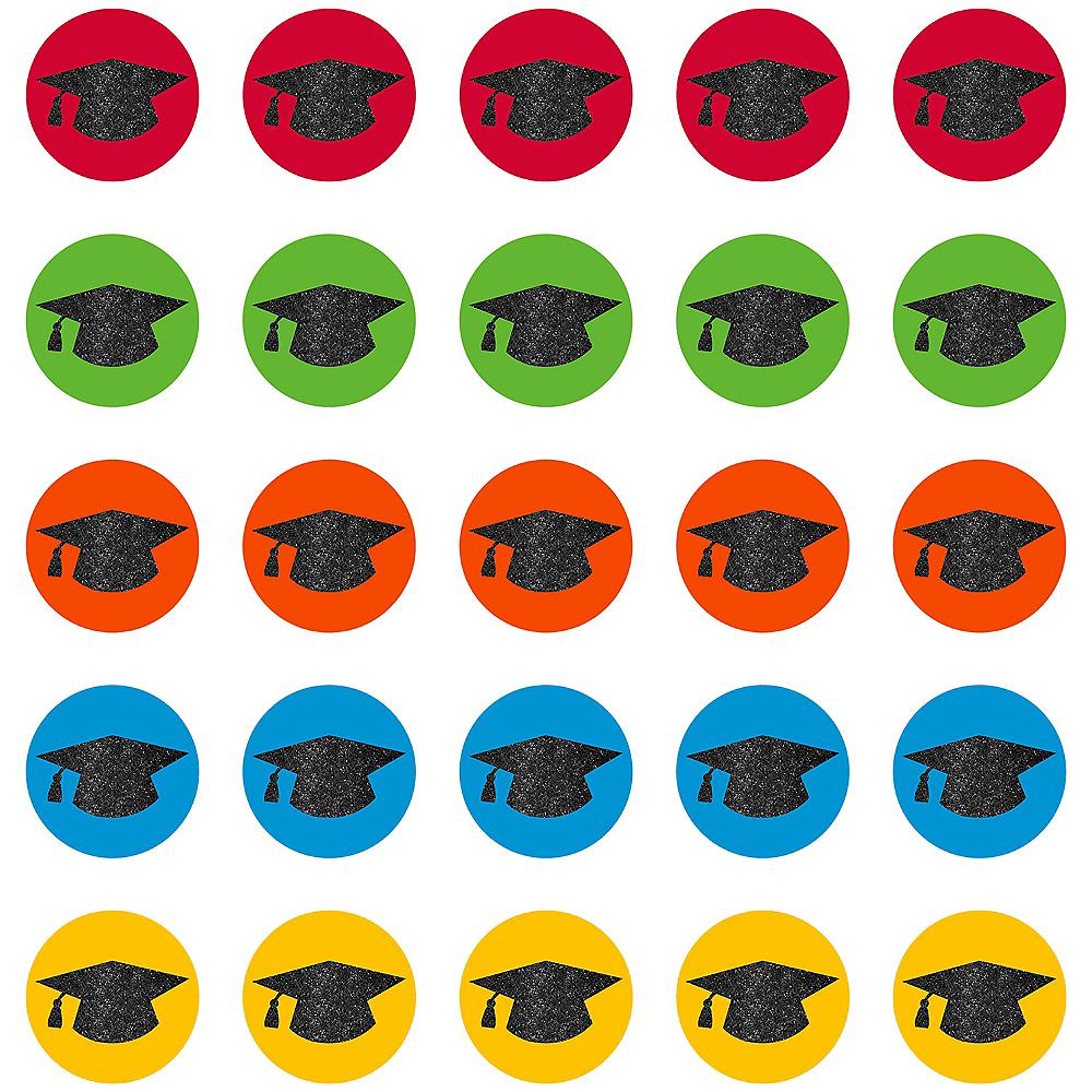 Glitter Graduation Cap Cutouts 50ct Image #1