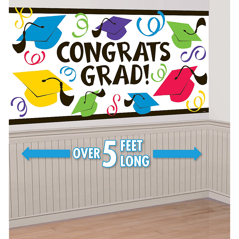Congrats Grad Large Graduation Banner Image #1