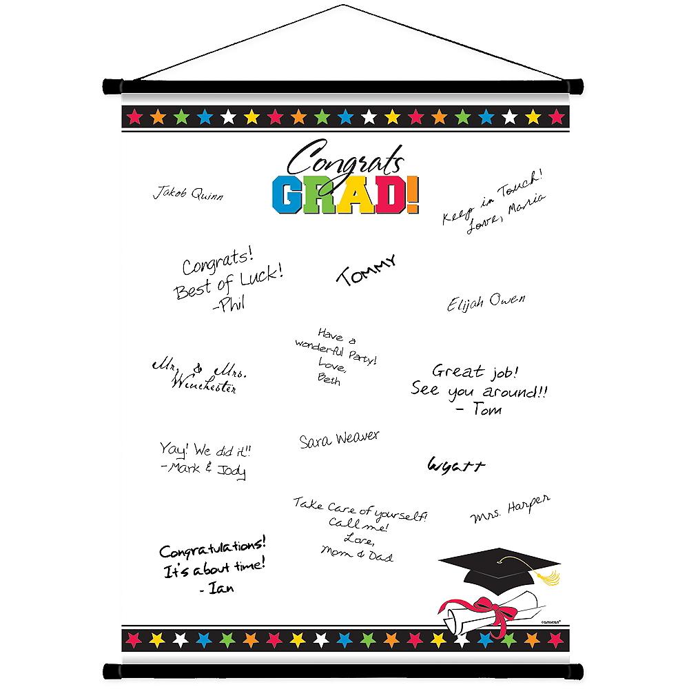 Multicolor Graduation Autograph Scroll Image #1