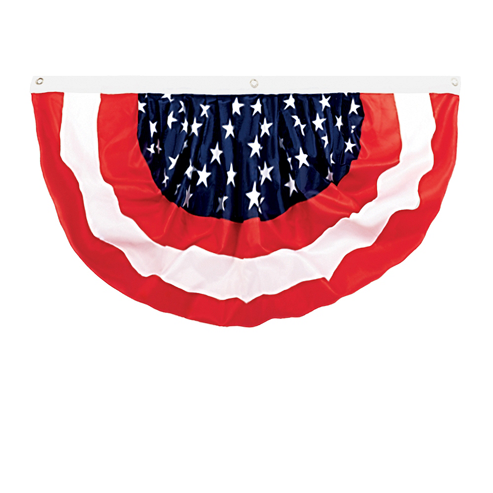Medium Patriotic American Flag Bunting Image #1