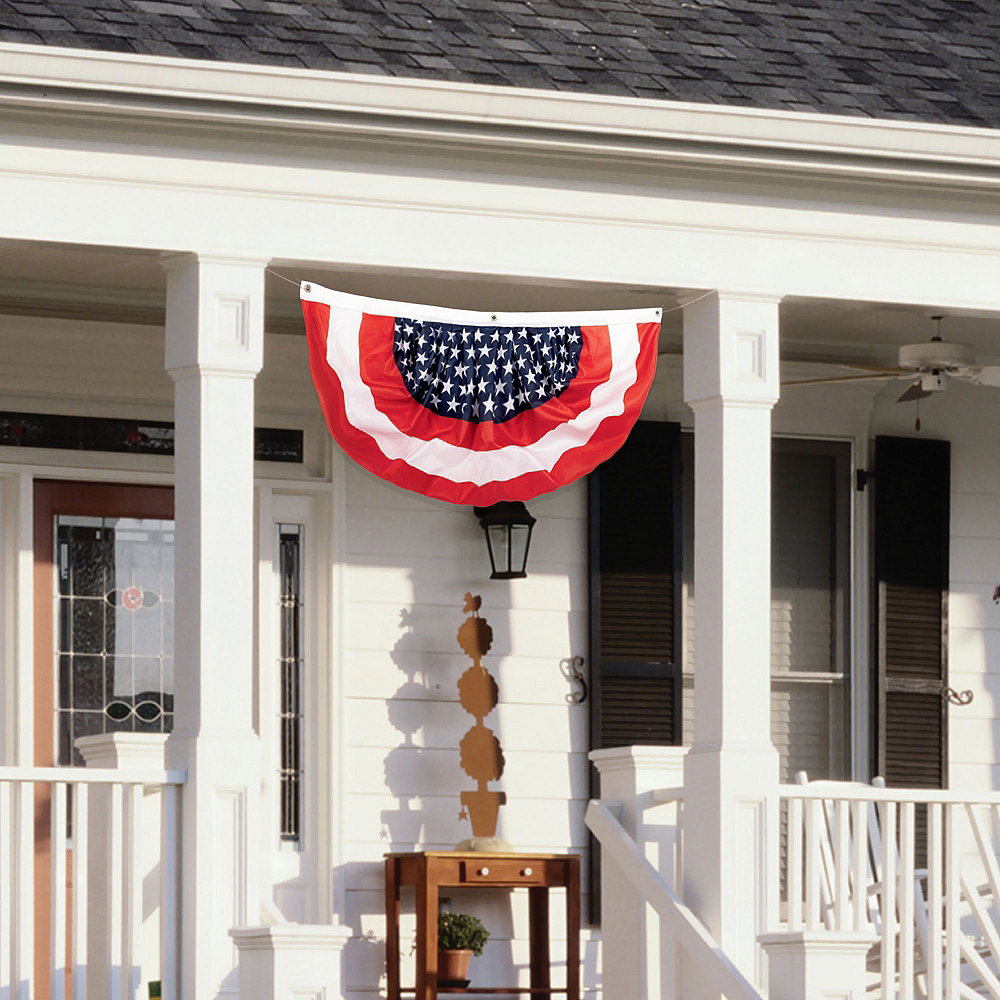 Medium Patriotic American Flag Bunting Image #2
