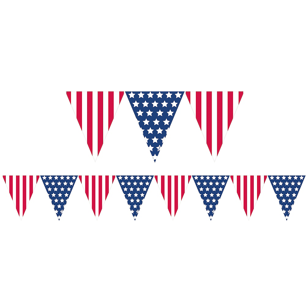 Nav Item for Patriotic American Flag Pennant Banner Image #1