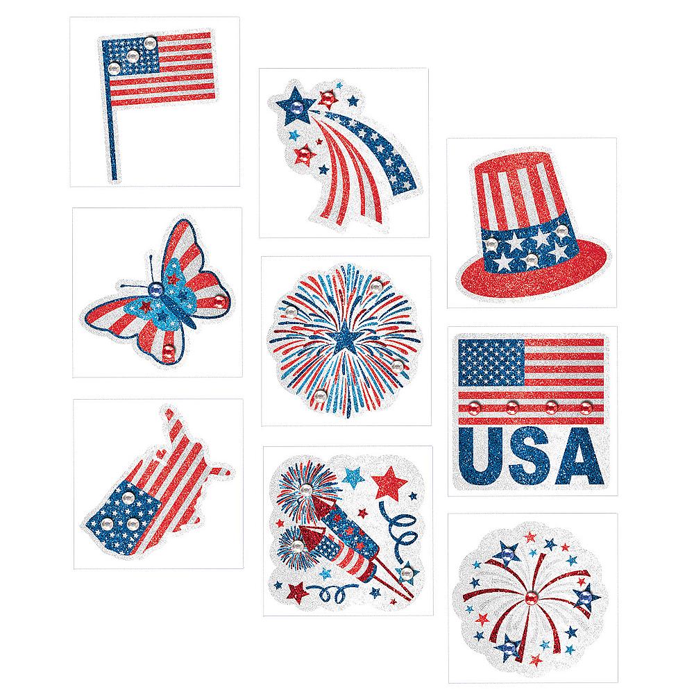 Patriotic American Flag Body Jewelry 9ct Image #1