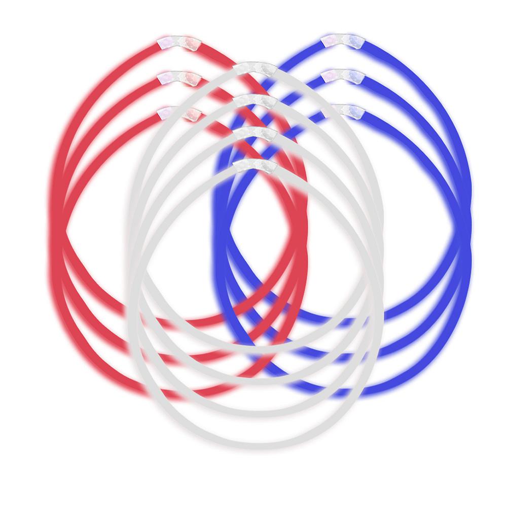 Patriotic Red, White & Blue Glow Sticks 10ct Image #1