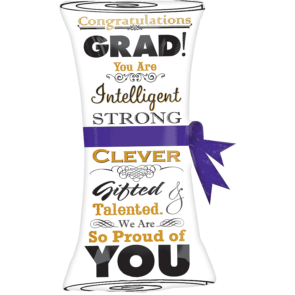 Giant Scroll Graduation Balloon, 36in Image #1