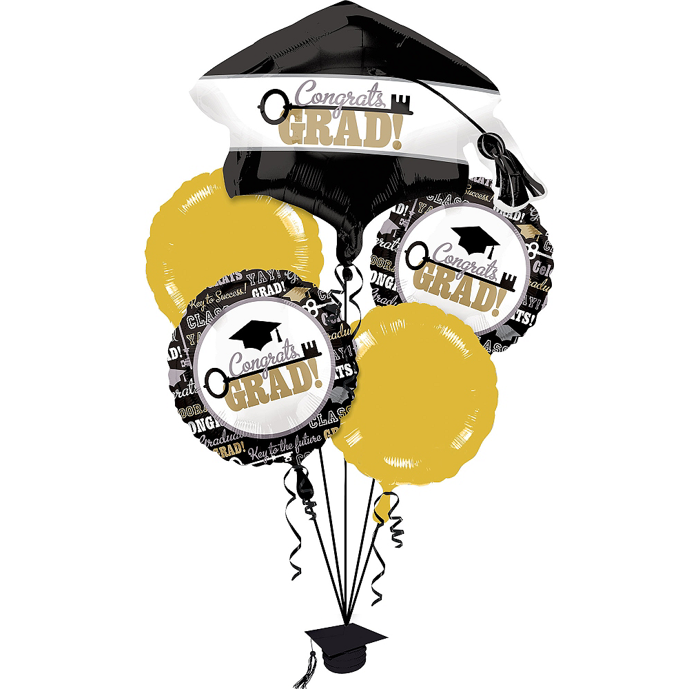 Nav Item for Graduation Balloon Bouquet 6pc - Key to Success Image #1