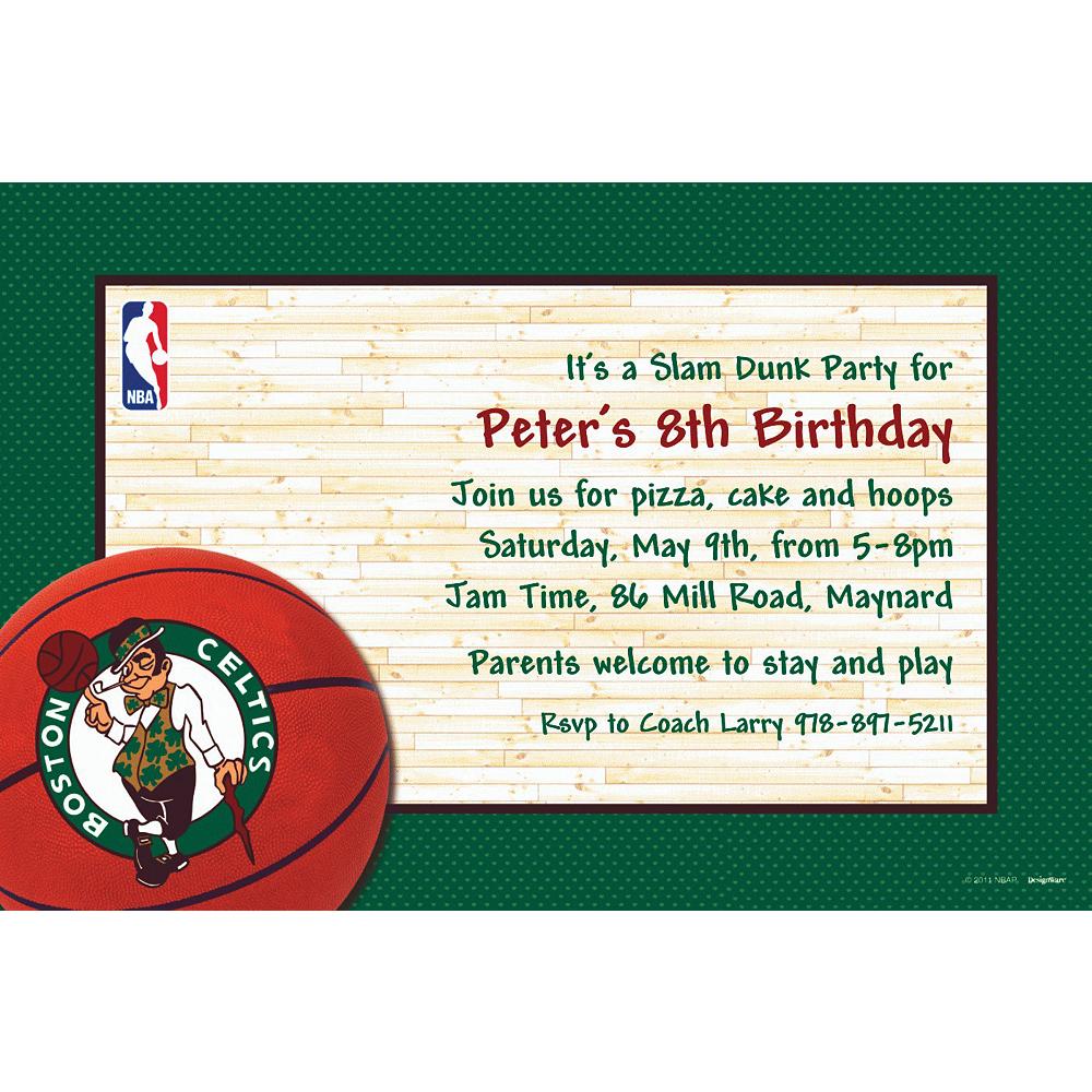 Custom Boston Celtics Invitations Image #1