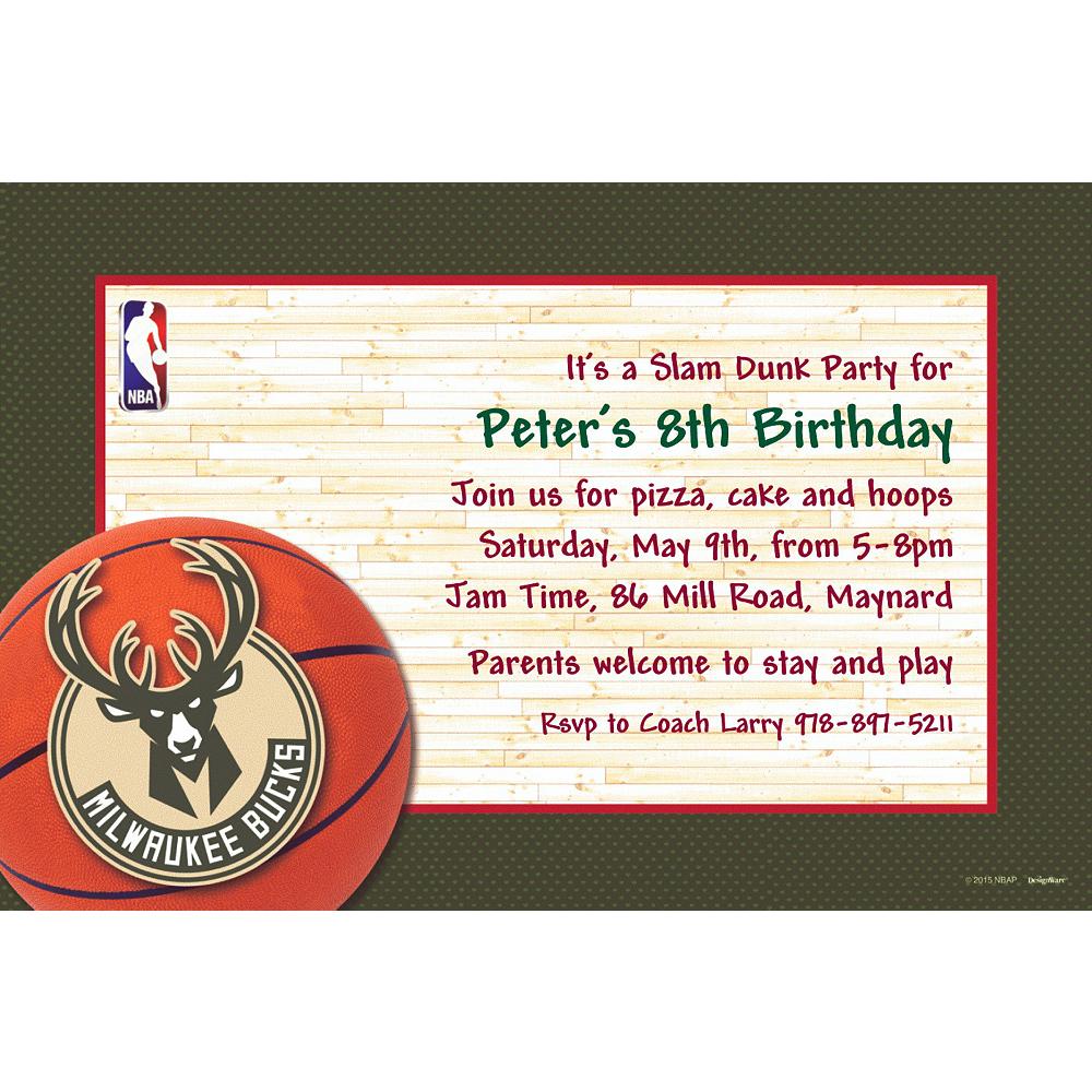 Custom Milwaukee Bucks Invitations Image #1