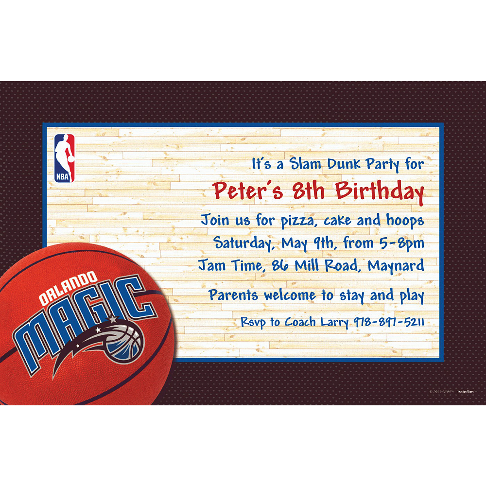 Custom Orlando Magic Invitations | Party City