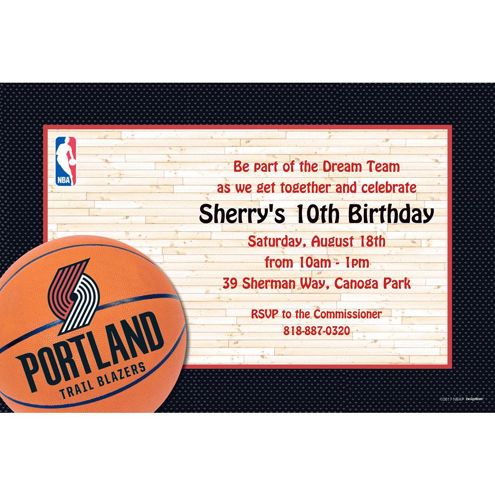 Custom Portland Trail Blazers Invitations Image #1