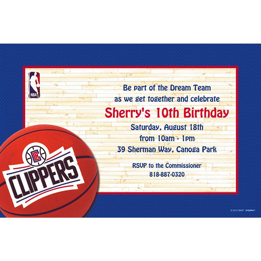 Custom Los Angeles Clippers Invitations Image #1