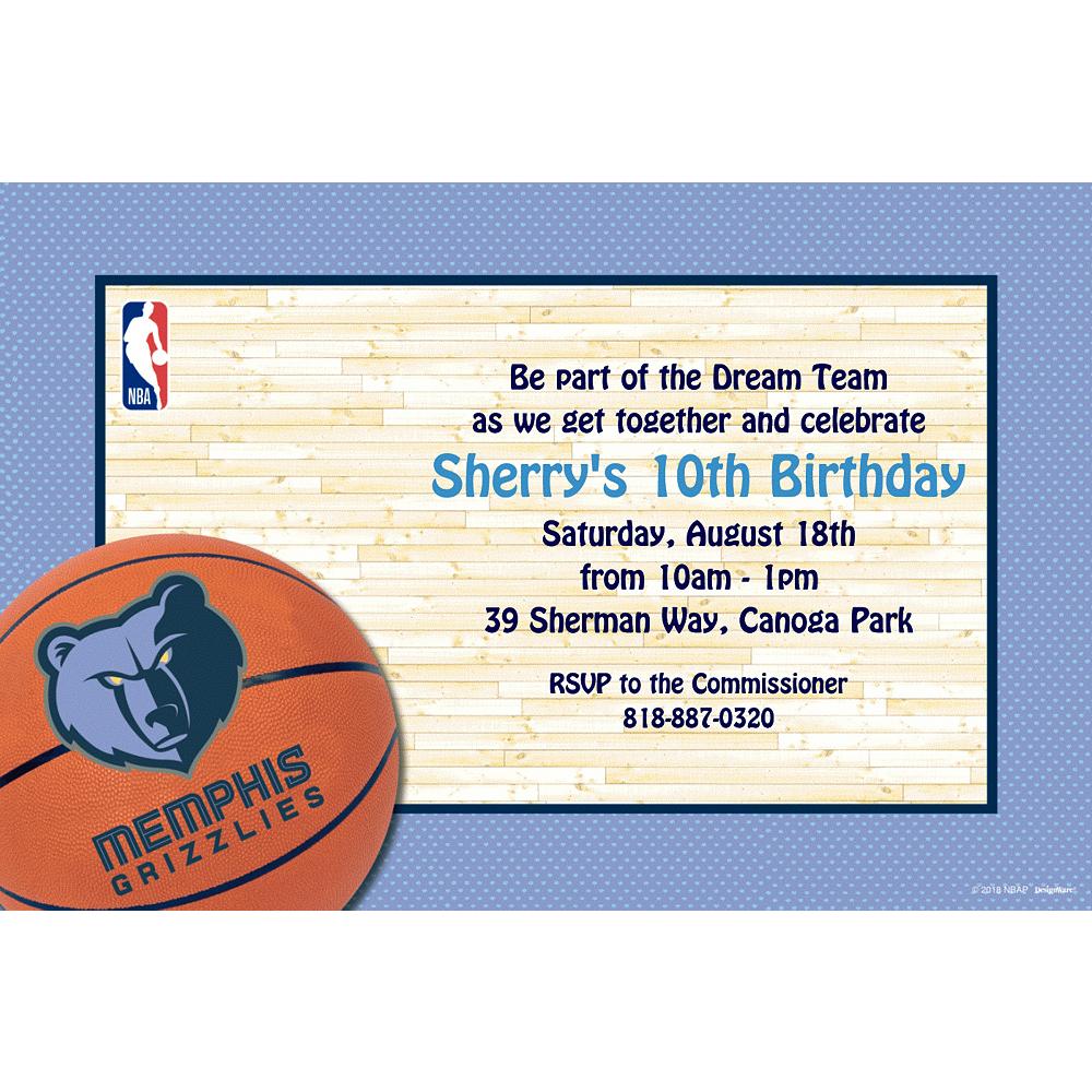 Custom Memphis Grizzlies Invitations Image #1
