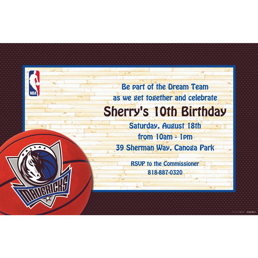 Custom Dallas Mavericks Invitations Image #1