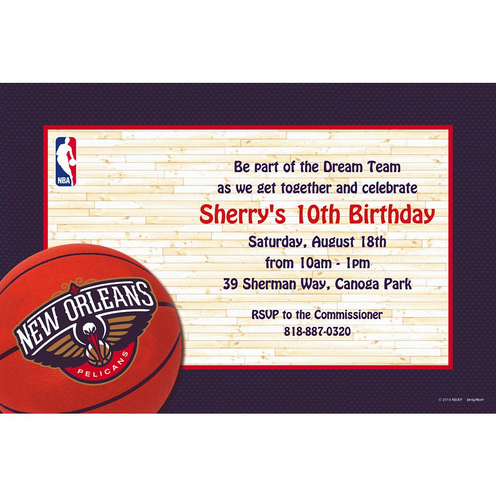 Custom New Orleans Pelicans Invitations Image #1