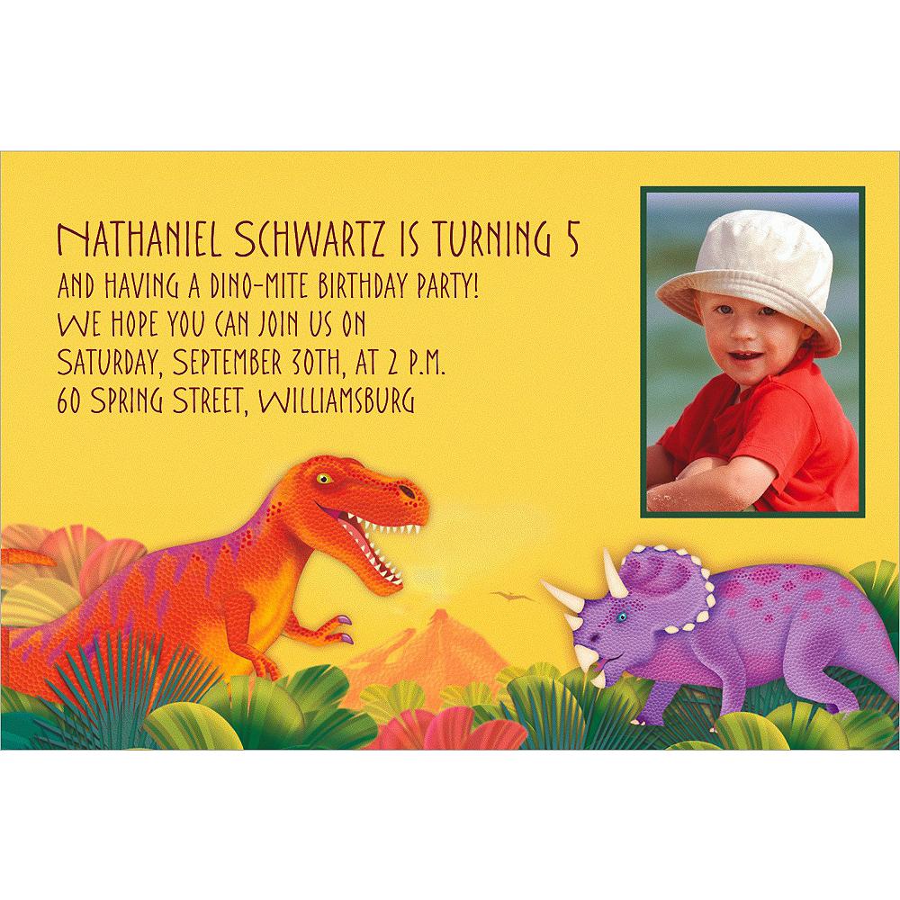 Custom Prehistoric Dinosaurs Photo Invitations Image #1