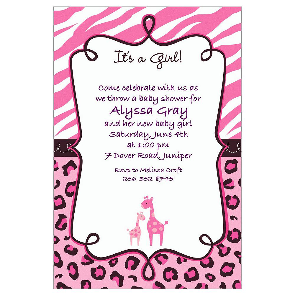 Custom Pink Safari Baby Shower