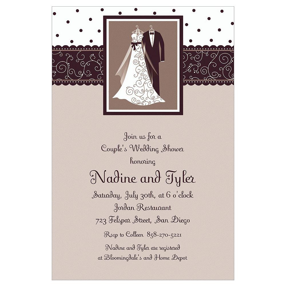 Custom Black & White Wedding Invitations Image #1