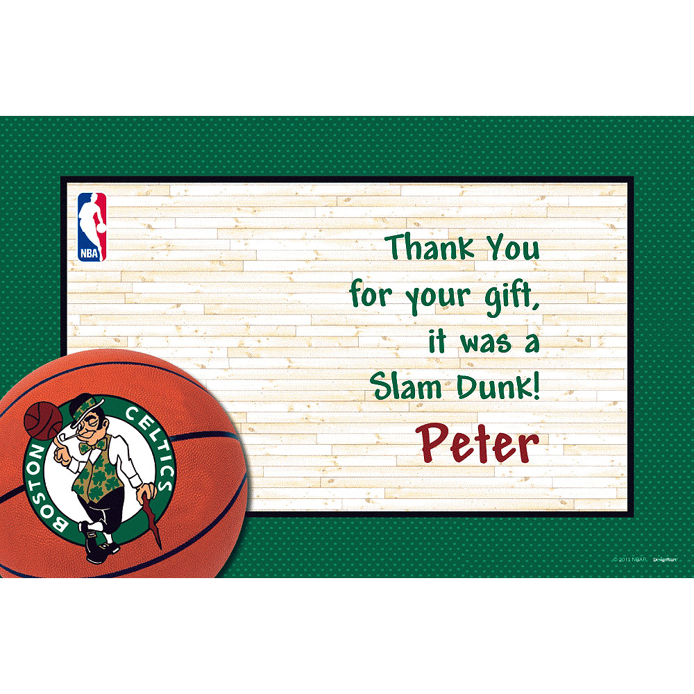 Nav Item for Custom Boston Celtics Thank You Notes  Image #1