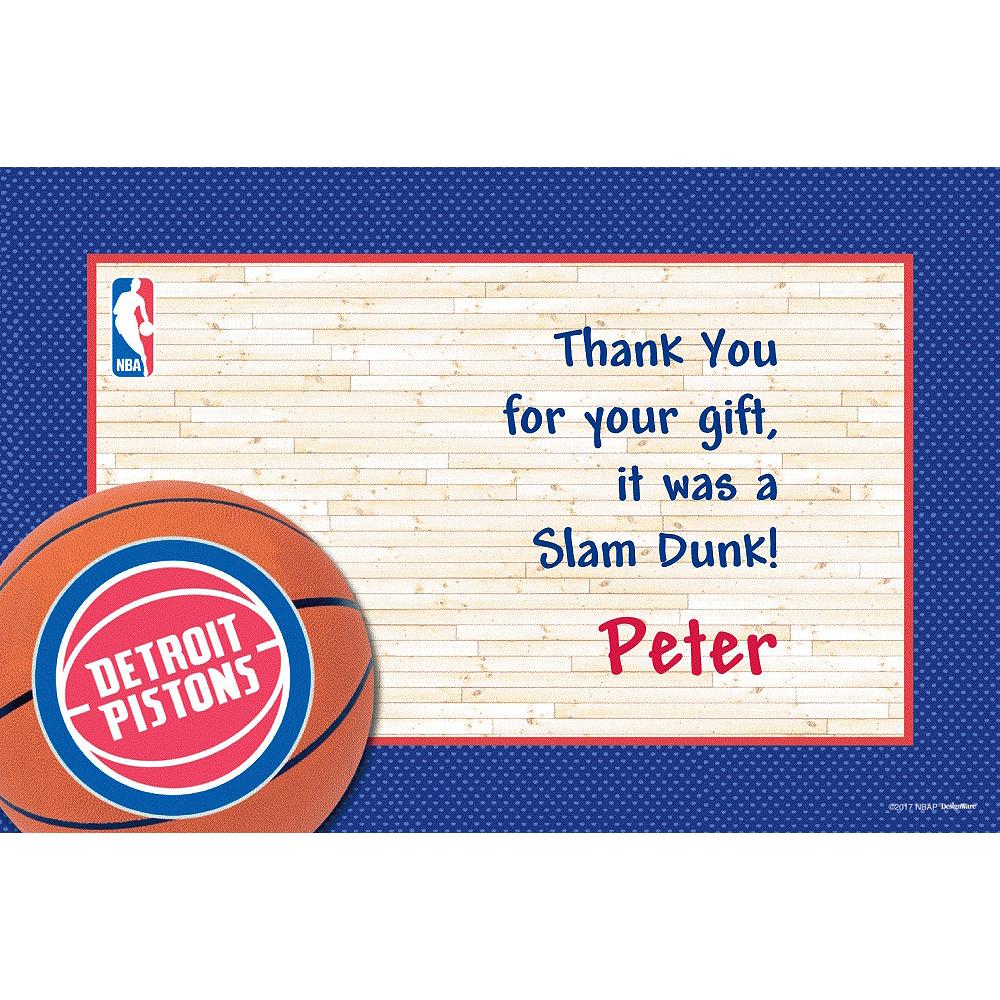 Custom Detroit Pistons Thank You Notes Image #1