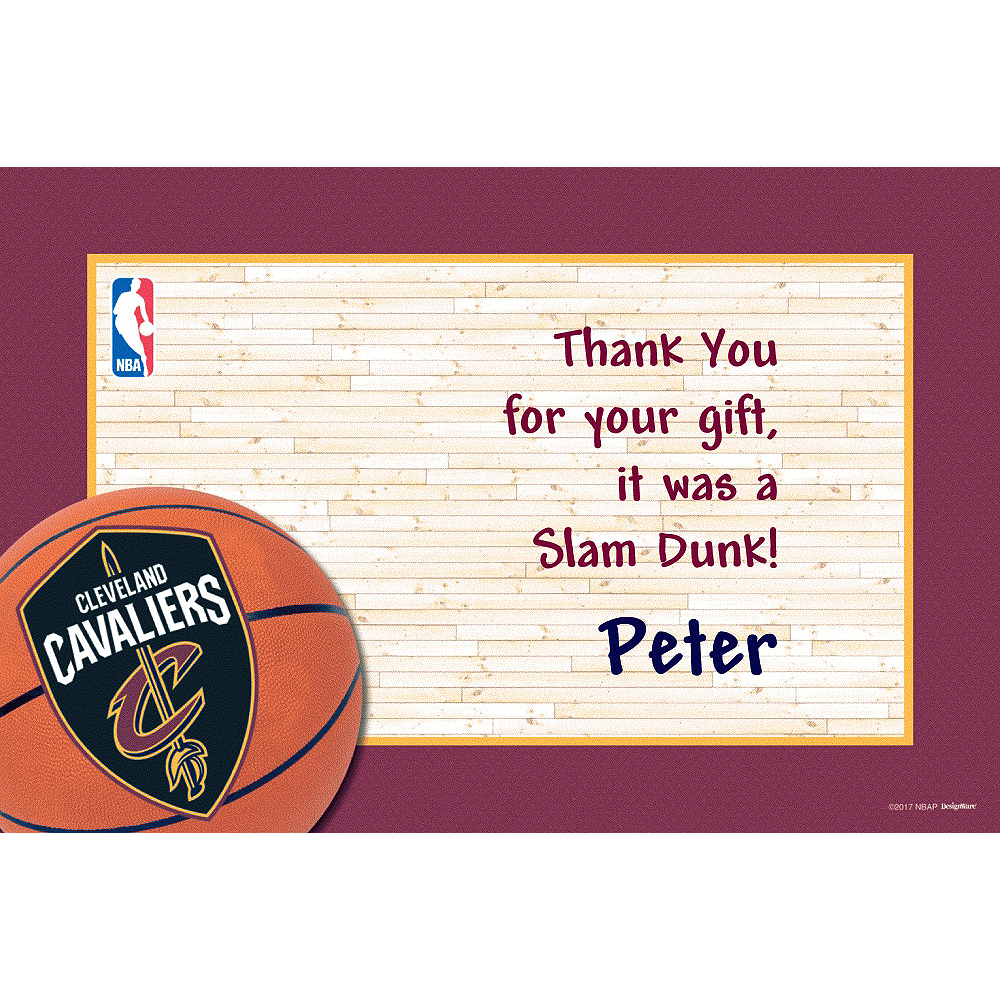 Custom Cleveland Cavaliers Thank You Notes Image #1