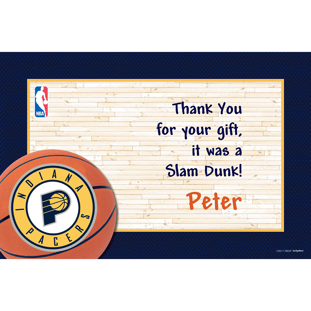 Custom Indiana Pacers Thank You Notes Image #1