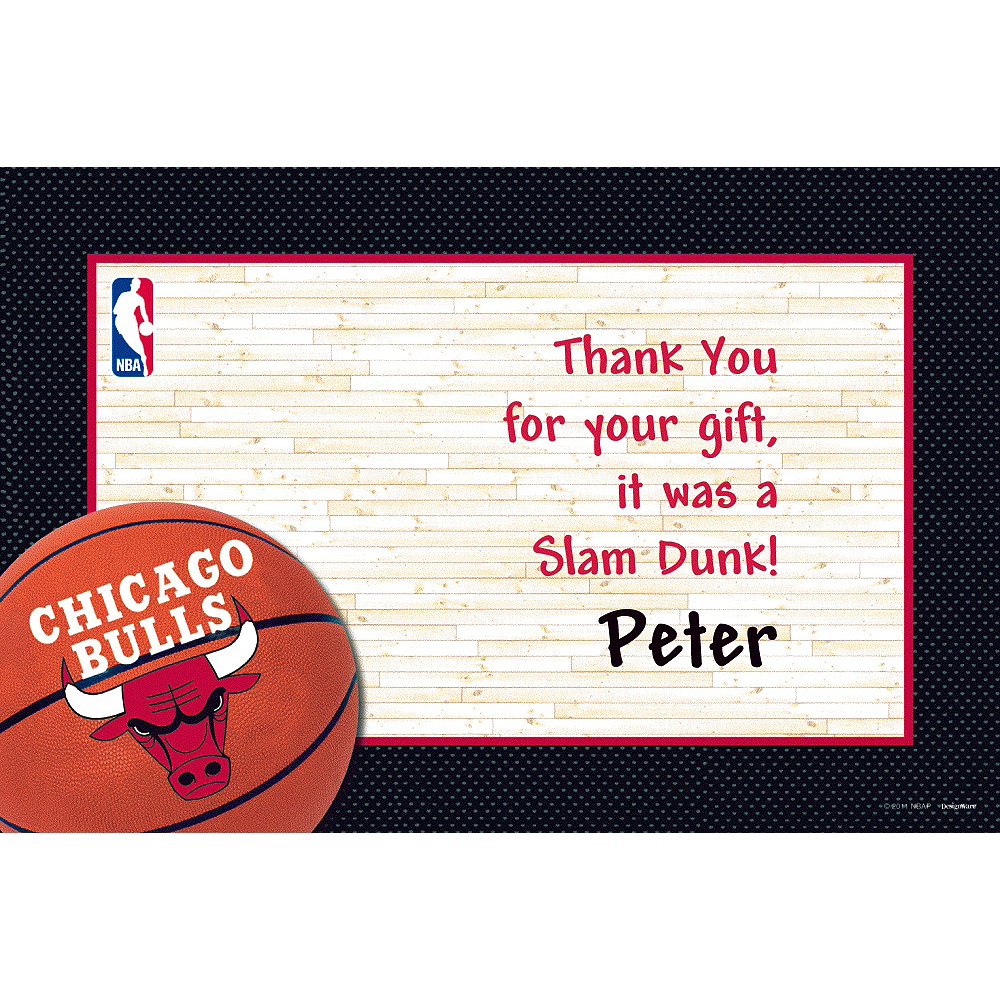 Custom Chicago Bulls Thank You Notes Image #1