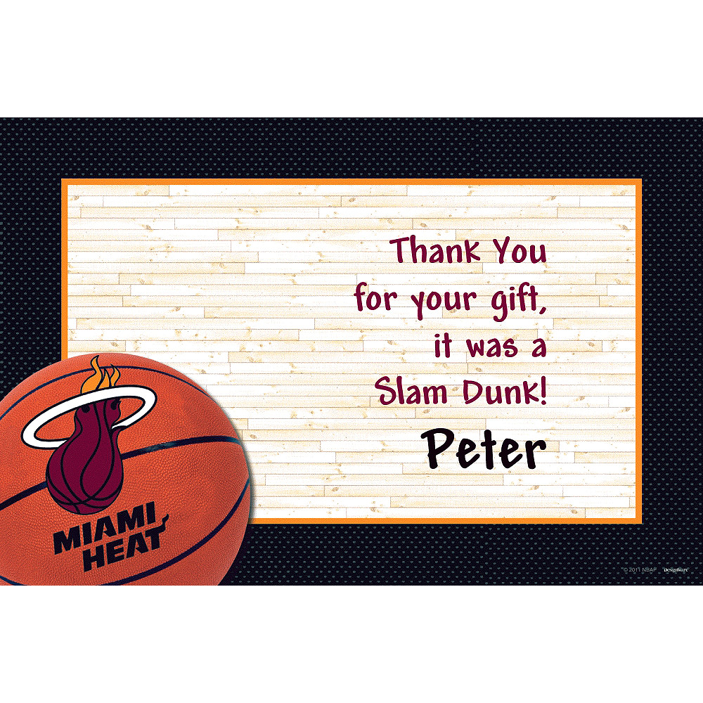 Custom Miami Heat Thank You Notes Image #1