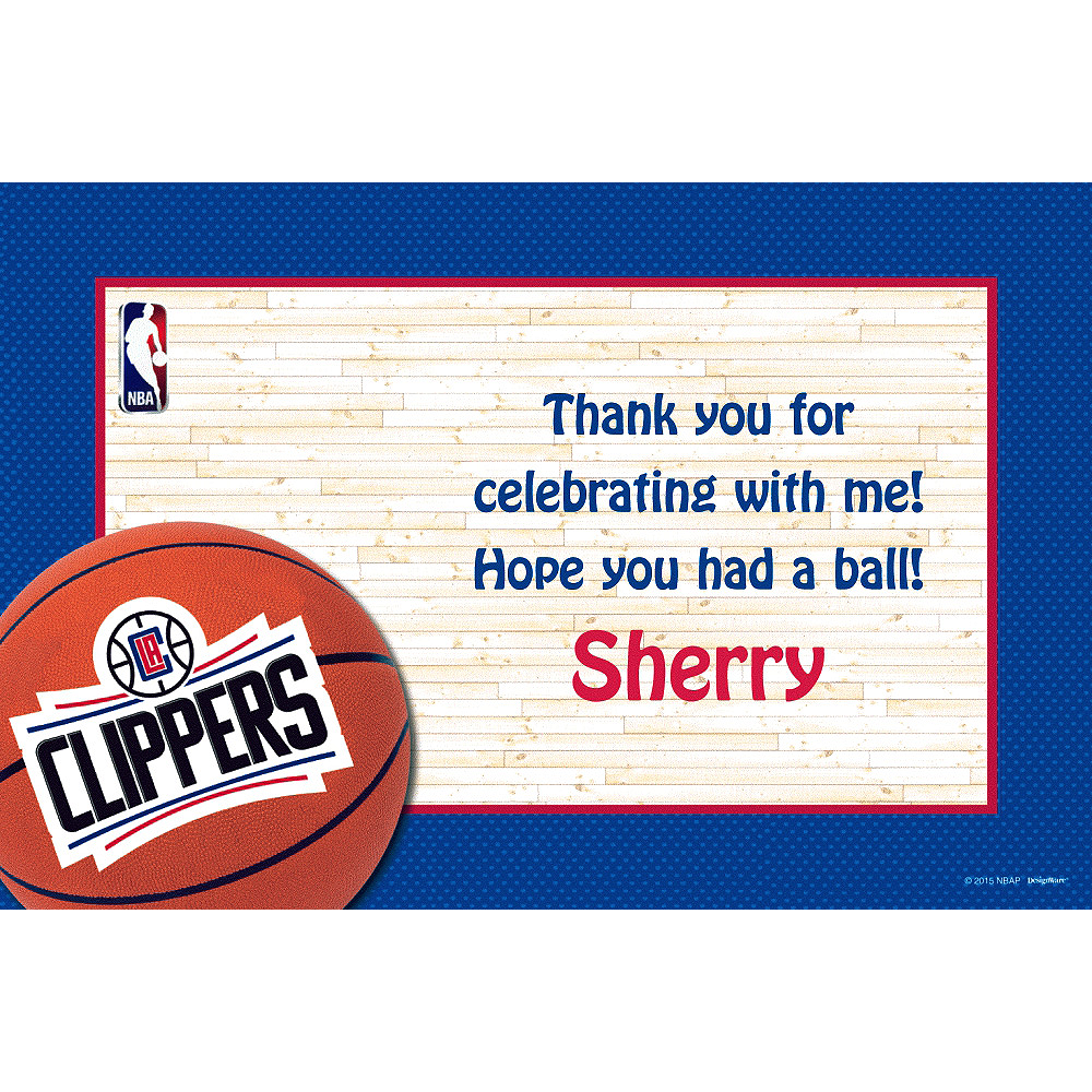 Custom Los Angeles Clippers Thank You Notes Image #1