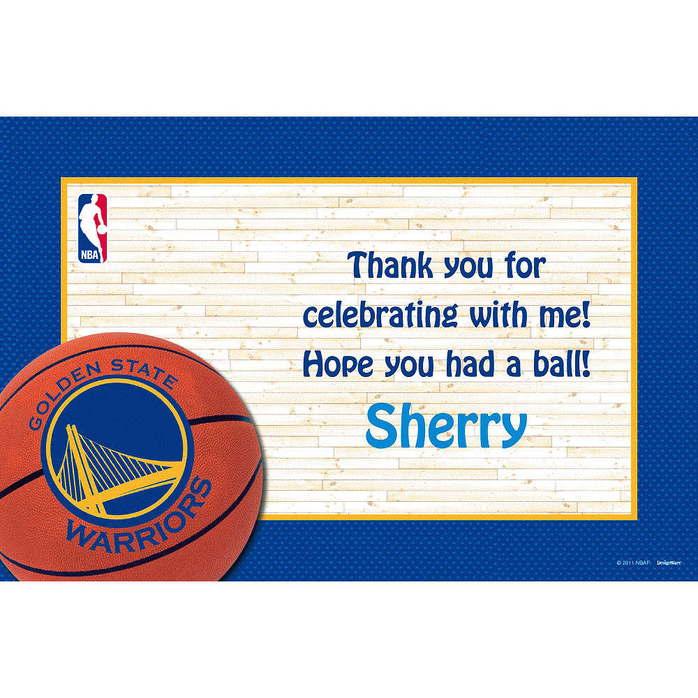 Custom Golden State Warriors Thank You Notes Image #1
