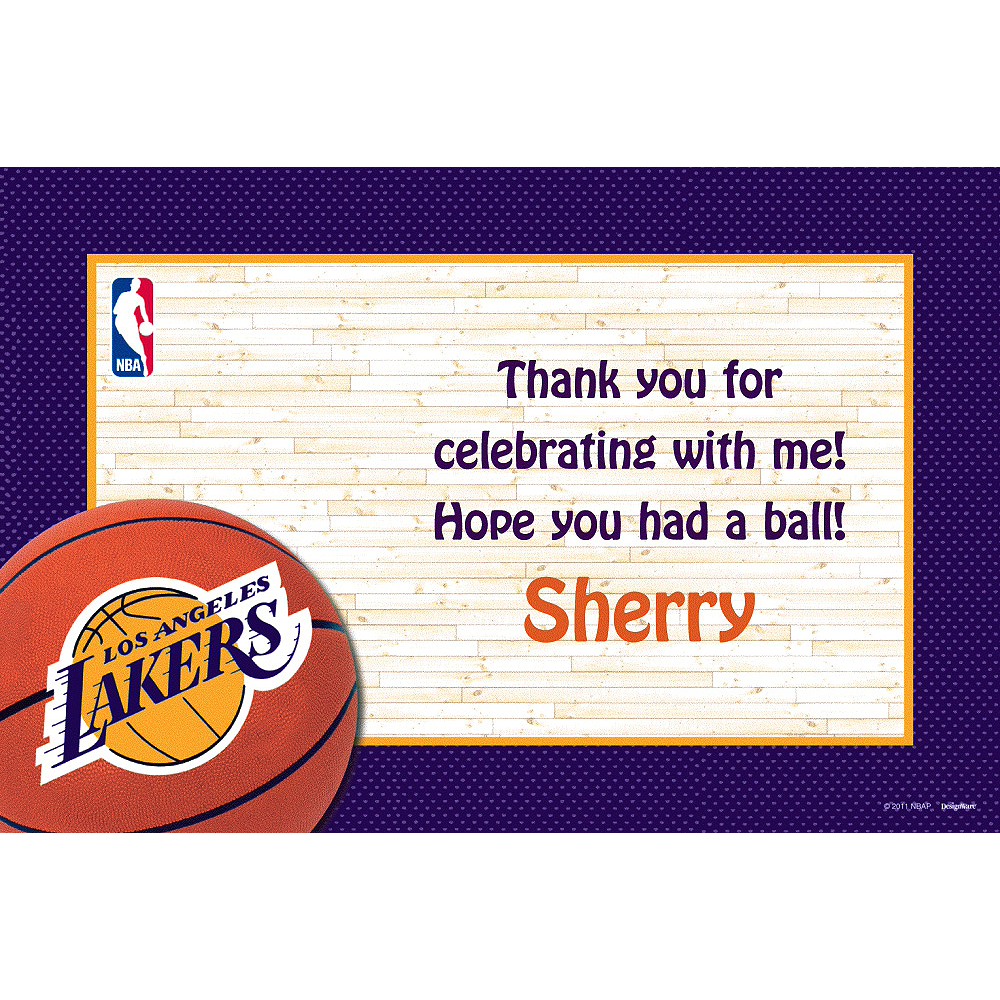 Custom Los Angeles Lakers Thank You Notes Image #1