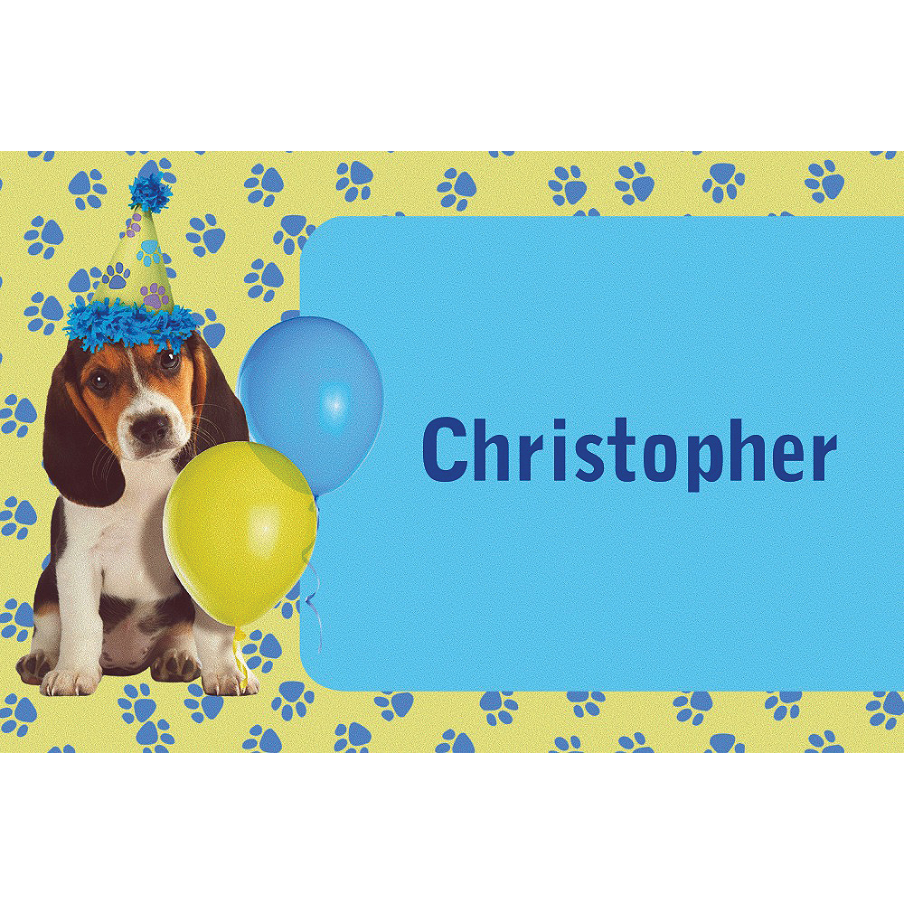 Custom Party Pups Thank You Notes Image #1