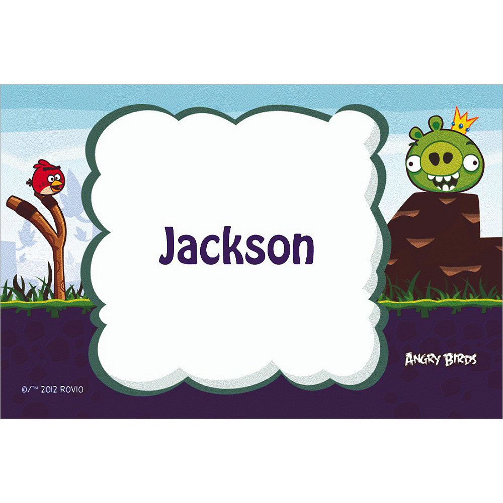 Custom Angry Birds Thank You Notes Image #1