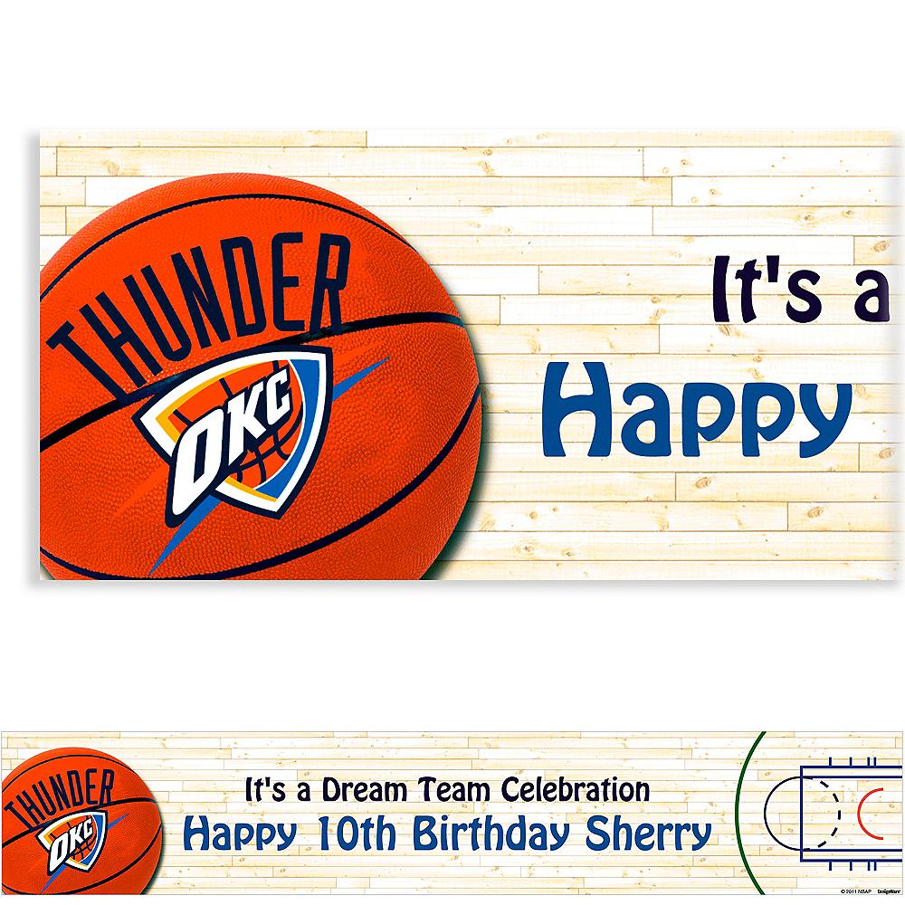 Custom Oklahoma City Thunder Banner 6ft Image #1