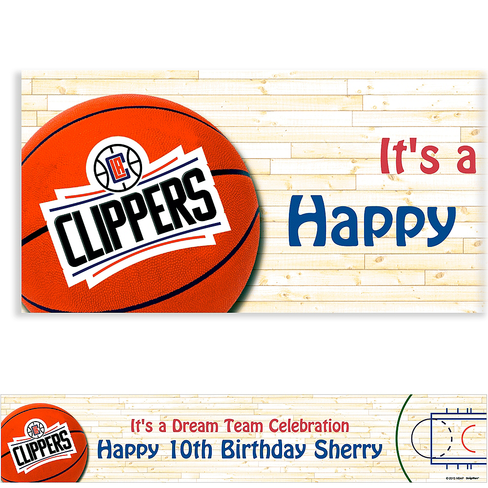 Custom Los Angeles Clippers Banner 6ft Image #1