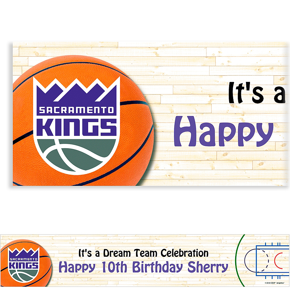 Custom Sacramento Kings Banner 6ft Image #1