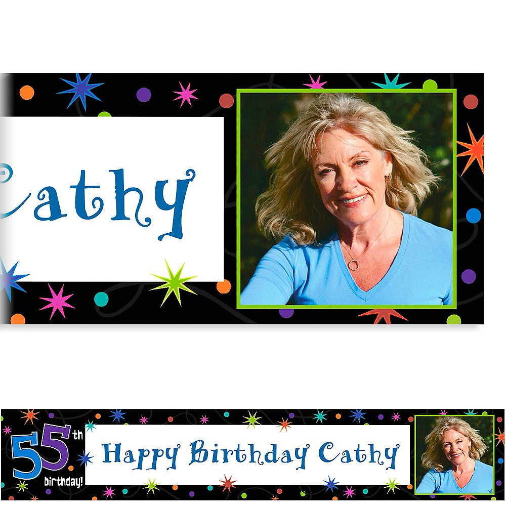 Custom The Party Continues 55th Photo Banner 6ft Image #1