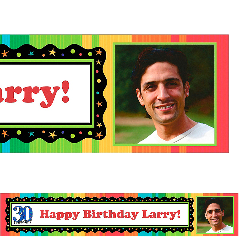 Custom A Year to Celebrate 30th Birthday Photo Banner 6ft Image #1