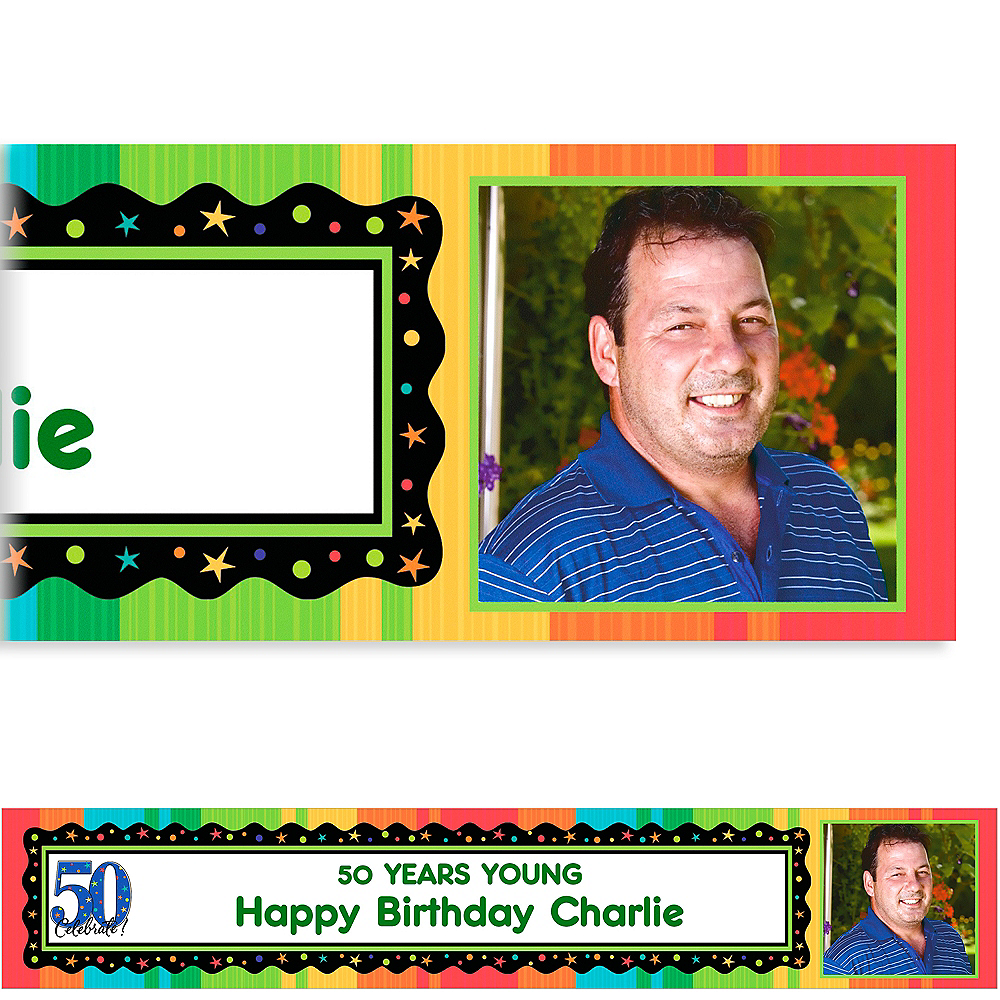 Custom A Year to Celebrate 50th Photo Banner 6ft Image #1