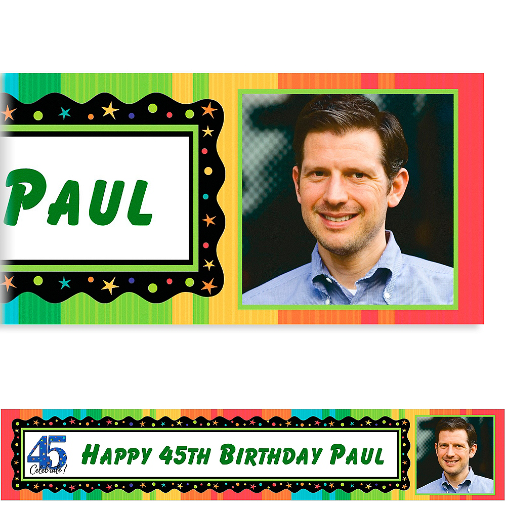 Custom A Year to Celebrate 45th Photo Banner 6ft Image #1