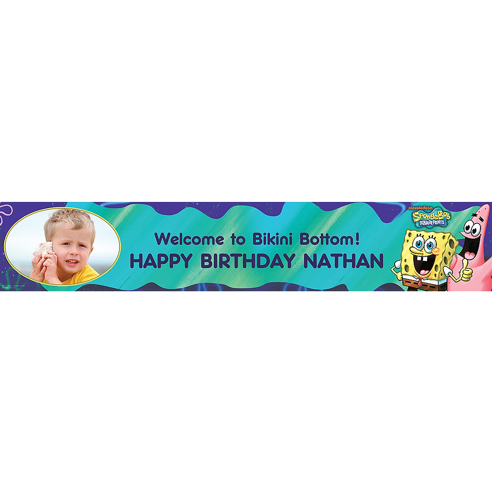 Custom Sponge Bob Classic Photo Banner 6ft Image #1