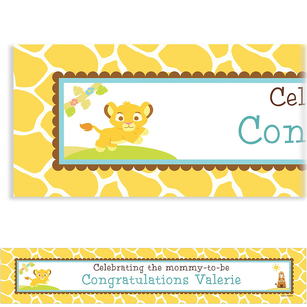 Custom Lion King Baby Shower Baby Shower Banner 6ft Image #1