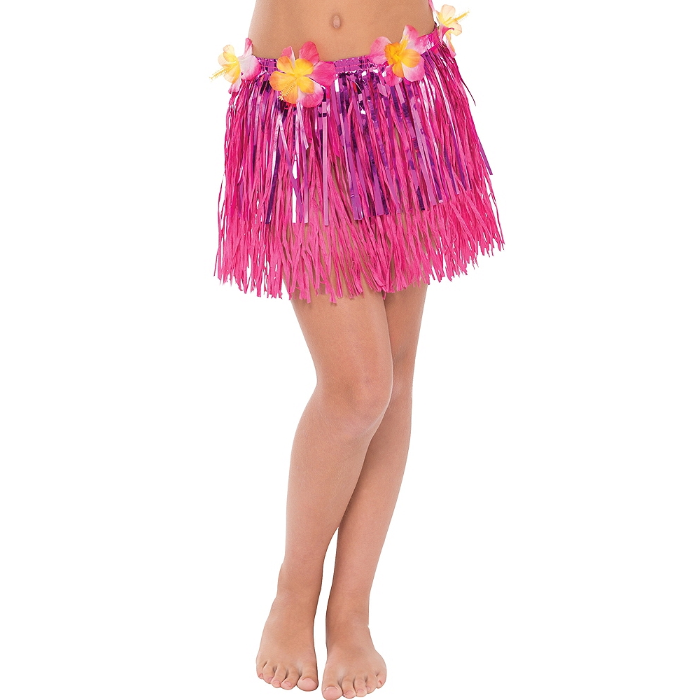 Child Grass & Tinsel Hula Skirt Image #1