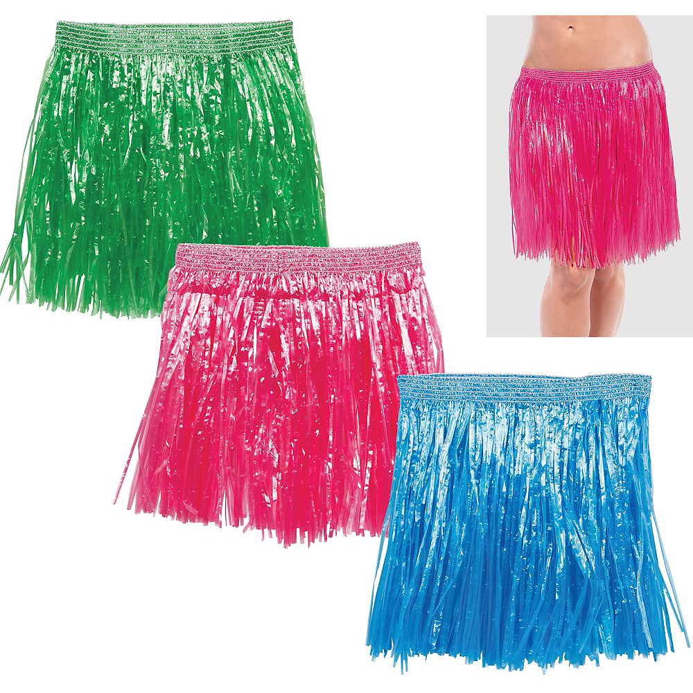 Adult Hula Skirts 3ct Image #1