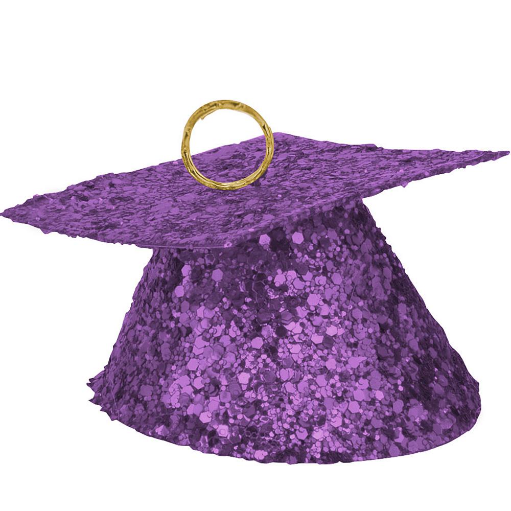 Purple Glitter Graduation Balloon Weight Image #1