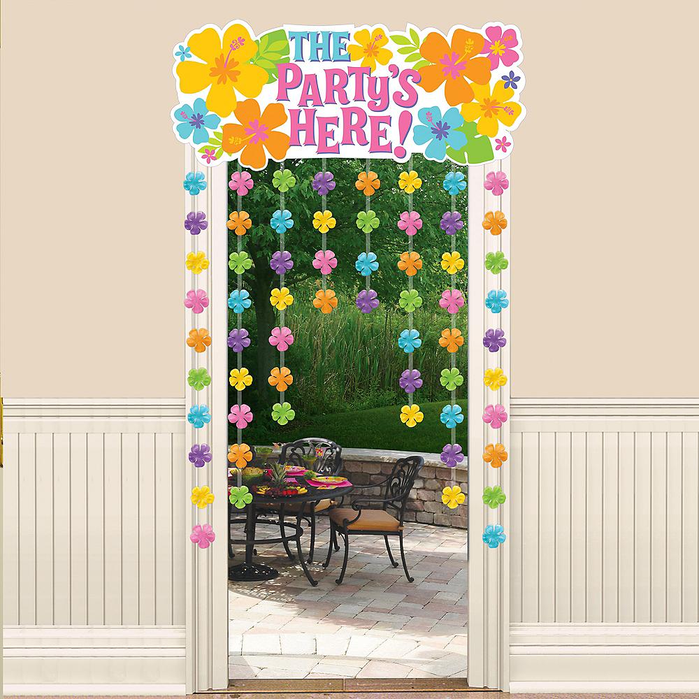 Hibiscus Doorway Curtain Image #1