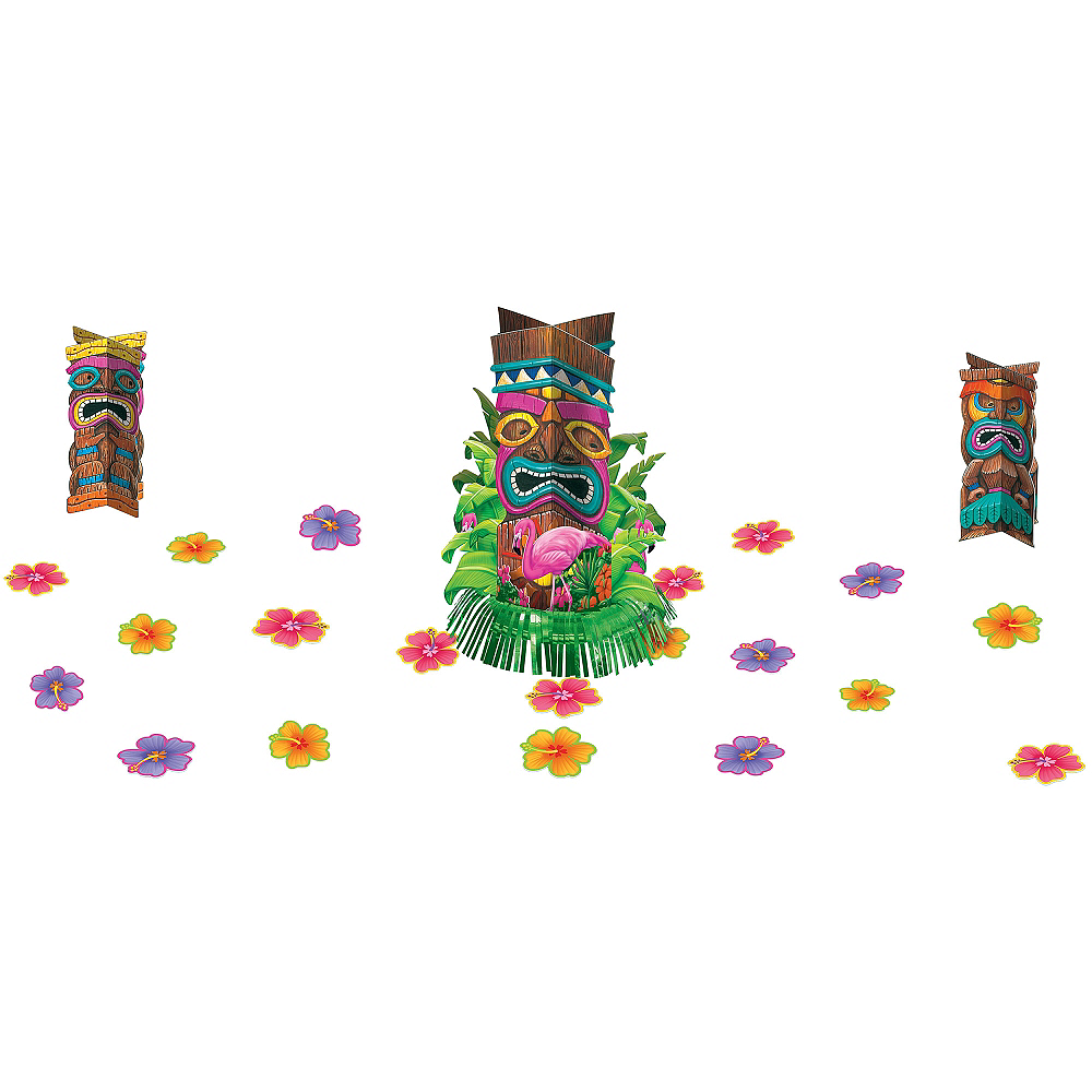 Tiki Fringe Centerpiece Kit 23pc Image #1