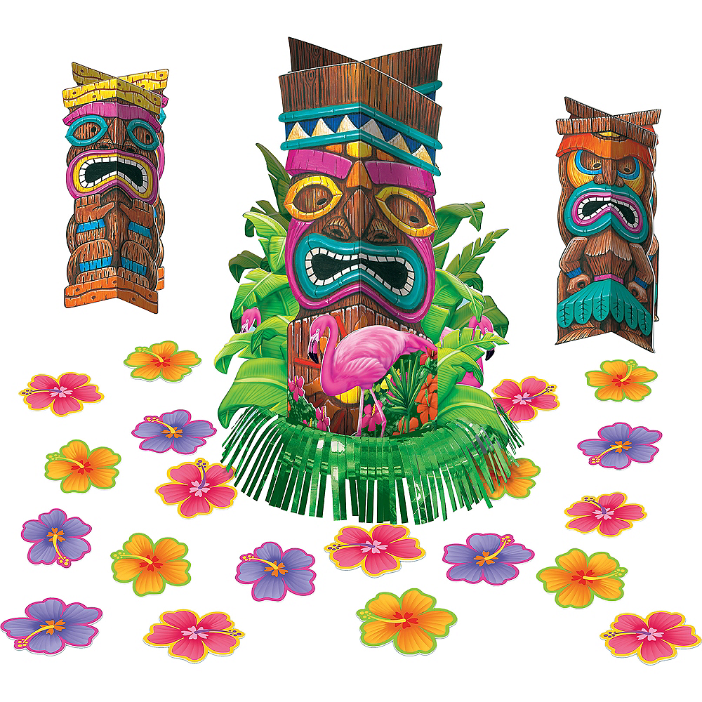 Tiki Fringe Centerpiece Kit 23pc Image #2