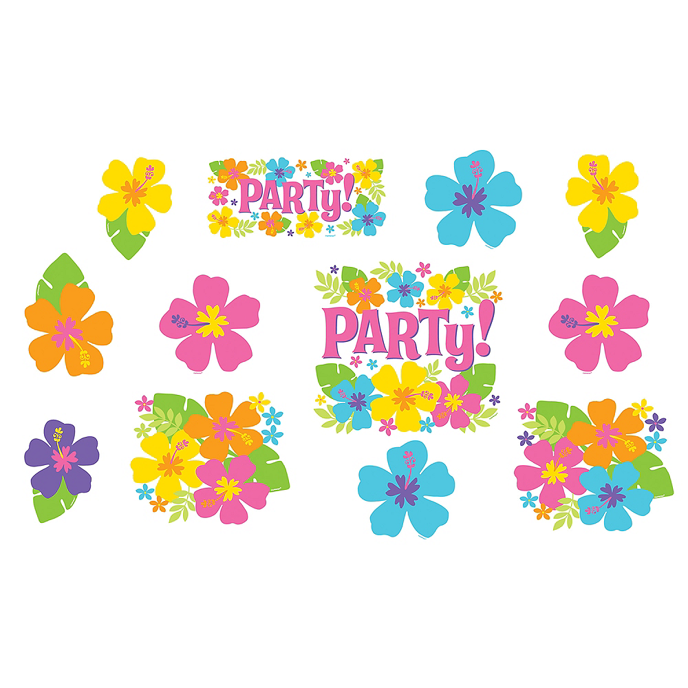 Hibiscus Party Cutouts 12ct Image #1