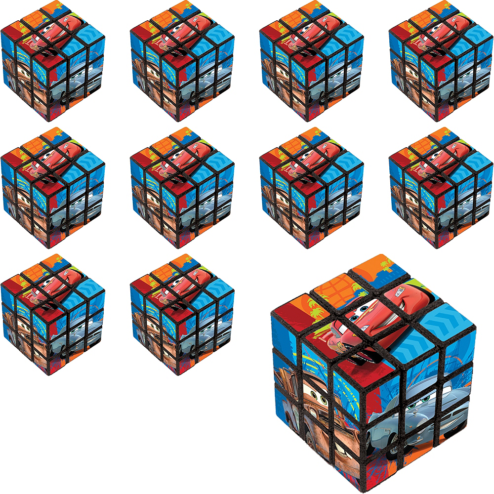 Nav Item for Cars Puzzle Cubes 24ct Image #1
